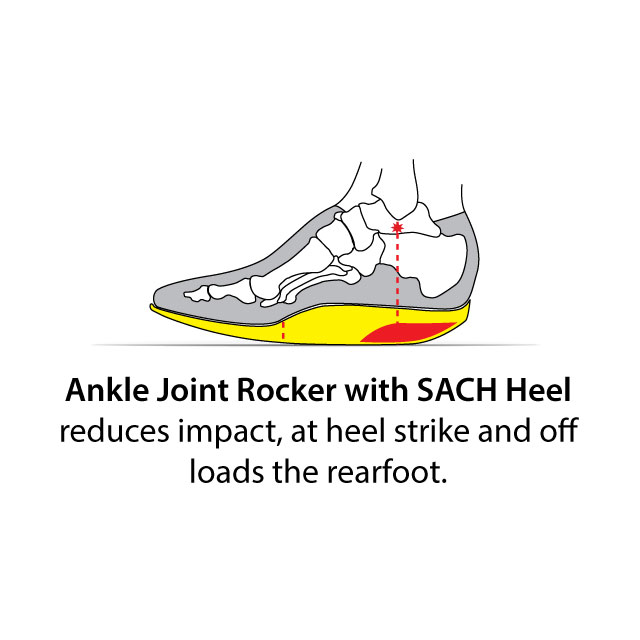 Ankle Joint Rocker with SACH Heel