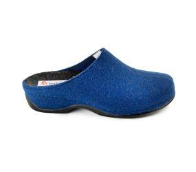 Berkemann - Florina Royal Blue Felt Clog
