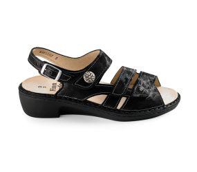 Finn Comfort - Aversa Black Chenile Sandal