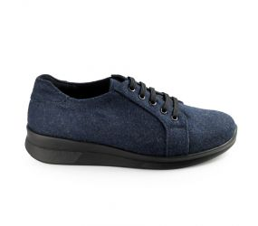 Berkemann - Donya Ink Blue Textile Oxford