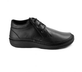 Berkemann - Henry Black Leather Stretch Chukka