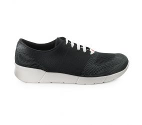 Berkemann - Linus Black/Dark Gray Comfort Knit Oxford