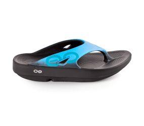 Oofos - OOriginal Sport Thong - Black/Aqua