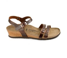 Birkenstock - Lana Cognac Leather Sandal