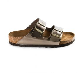 Birkenstock - Arizona Electric Metallic Taupe Birko-Flor
