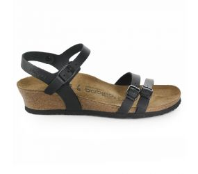 Birkenstock - Lana Black Leather Sandal