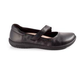 Birkenstock - Lora Black Leather Mary-Jane