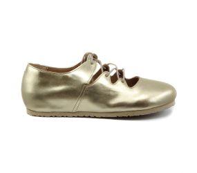 Birkenstock - Rye Metallic Gold Ghillie Shoe