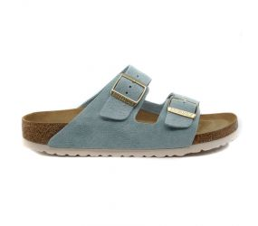 Birkenstock - Arizona Soft Footbed Light Blue Suede