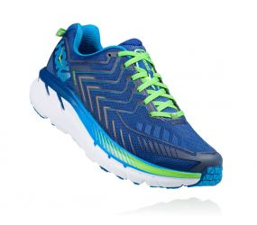 Hoka One One - Clifton 4 True Blue/Jasmine Green