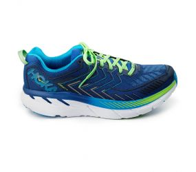 Hoka One One - Clifton 4 True Blue/Jasmine Green - Wide