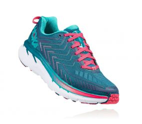 Hoka One One - W Clifton 4 Blue Coral/Ceramic - Wide