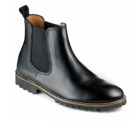 Tape - Maia Black Leather Chelsea Boot