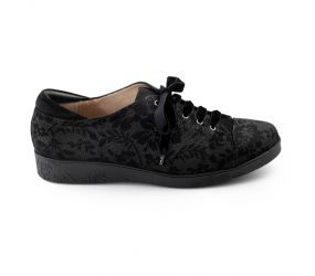 BeautiFeel - Cella Black 3D Chantilly Suede Lace