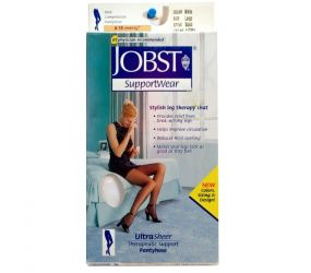 Jobst White Small Mens Calf Socks 15mmHg