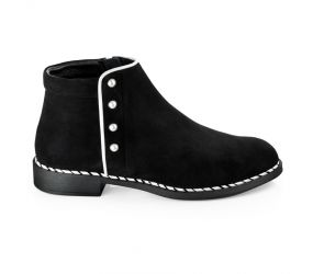 BeautiFeel - Marlowe Black Suede/White Boot