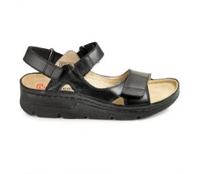 Berkemann - Kimba Black Leather Sandal