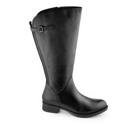JJ Footwear - Kreta Black Leather 2-3XW