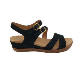 Dansko - Angela Black Milled Nubuck Sandal