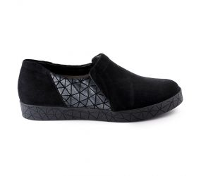 BeautiFeel - Nori Black Suede Slip On