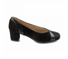D'Chicas - Black Suede/Snake Pump