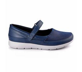 New Feet - Mary Jane Blue Stretch