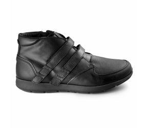New Feet - Velcro Boot Black Stretch