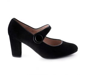 PieSanto - Cap Toe Mary Jane Black Leather