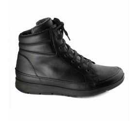 New Feet - Lace Boot Black Stretch
