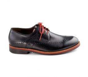 Durea - Black Leather Wingtip