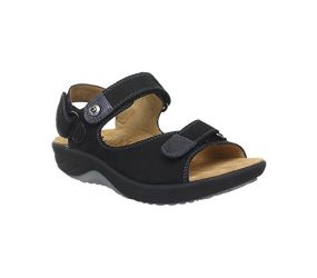 Ganter - Genda Black Leather Sandal