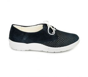 Christian Dietz - Ascona Navy Suede Perf Oxford