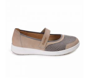 Ganter - Klara Taupe Calf/Stretch Mary Jane
