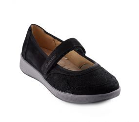 Ganter - Klara Black Nubuck/Stretch Mary Jane