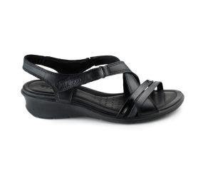 Ecco - Felicia Black Leather Wedge