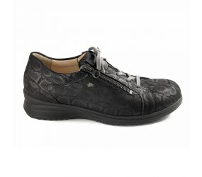 Finn Comfort - Bexley Black Lace/Zip Oxford