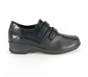 Xsensible - Lucille Black Leather Velcro