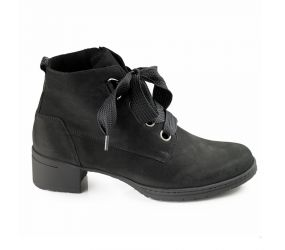 Hartjes - XS Hip Black Nubuck Lace Boot