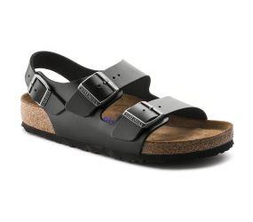 Birkenstock - Milano Black Amalfi Soft Footbed