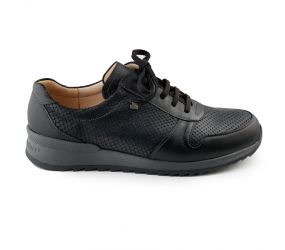Finn Comfort - Black Leather/Snake Oxford