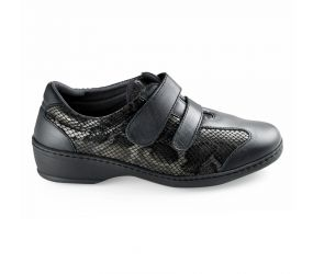 Notton - Graphite Leather 2Velcro Strap