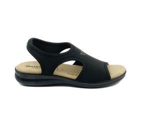 Valleverde - Black Lycra Full Vamp Sandal