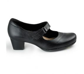 Clarks - Rosalyn Wren Black Leather MJ
