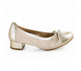 D'Chicas - Platino Leather Heeled Flat
