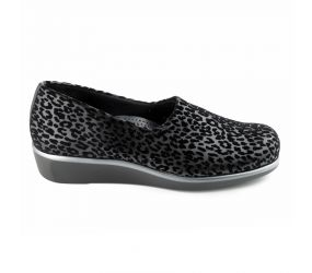 SAS Shoemakers - Bliss Black Leopard Slip On