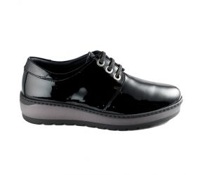 Notton - Black Patent Penny Loafer