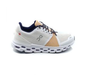 On Running - Women's Cloudstratus White/Almond