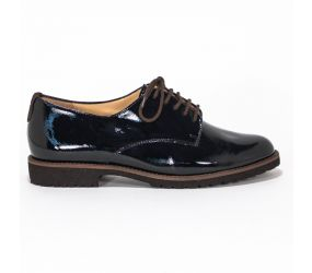 Hassia - Fermo Black Patent with Red Lace Oxford