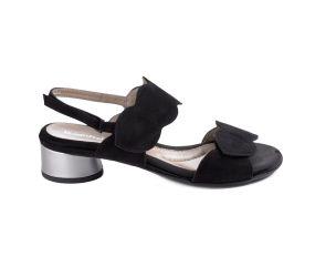 BeautiFeel - Elsie Black Suede Heeled Sandal