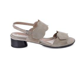 BeautiFeel - Elsie Tahini Suede Heeled Sandal